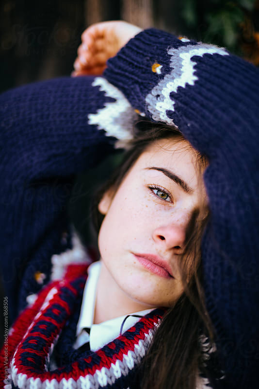 Portrait of a young woman by Jovana Vukotic for Stocksy United