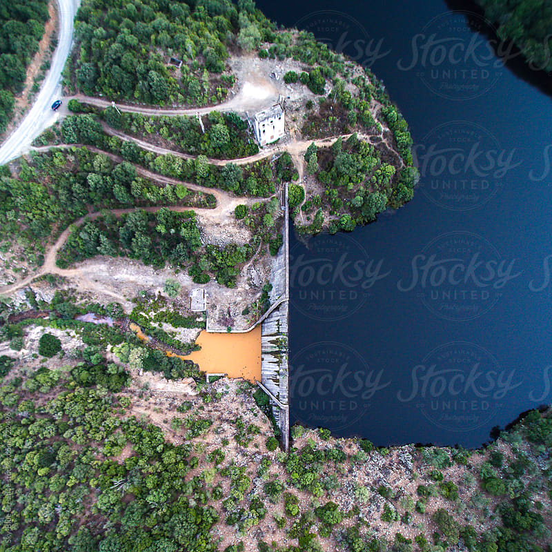 hydroelectric dam - view from above by Luca Pierro for Stocksy United