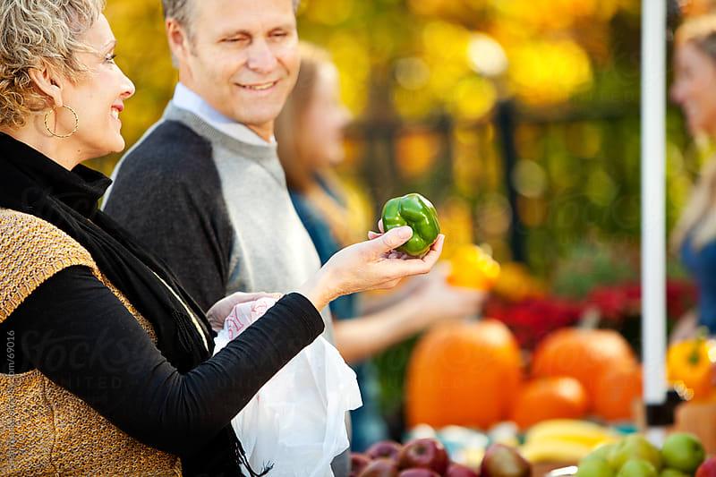 Farmer's Market: Focus on Green Pepper by Sean Locke for Stocksy United