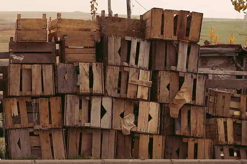 A Stack of Crates by Caleb Thal for Stocksy United