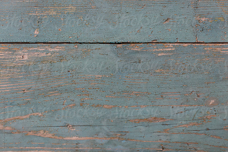 Old grungy weathered blue wood background texture by Amir Kaljikovic for Stocksy United