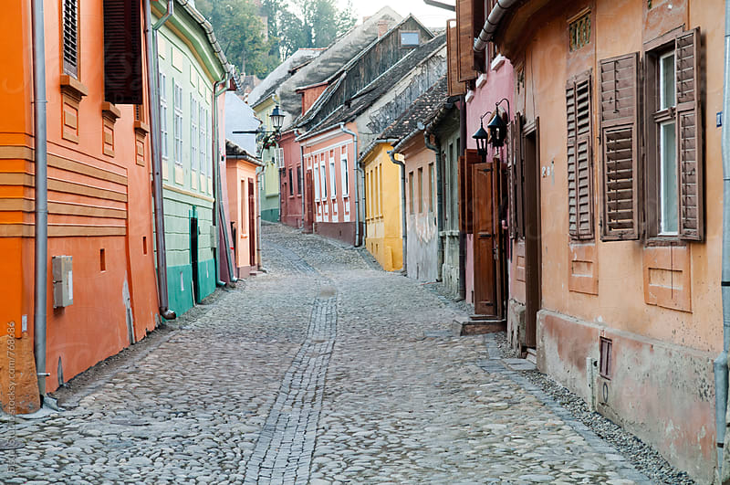 Streets of Sighisoara by Bisual Studio for Stocksy United
