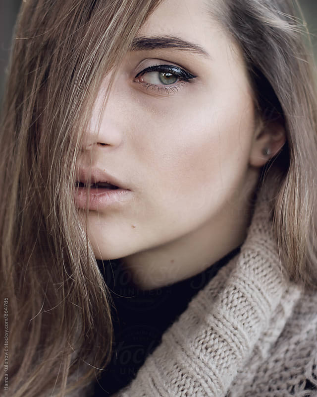 Soft portrait by Hamza Kulenović for Stocksy United