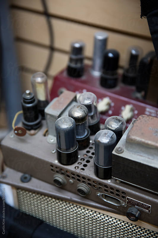 Vintage guitar amplifier by Curtis Kim for Stocksy United