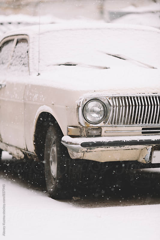 classic vintage car  by Alexey Kuzma for Stocksy United