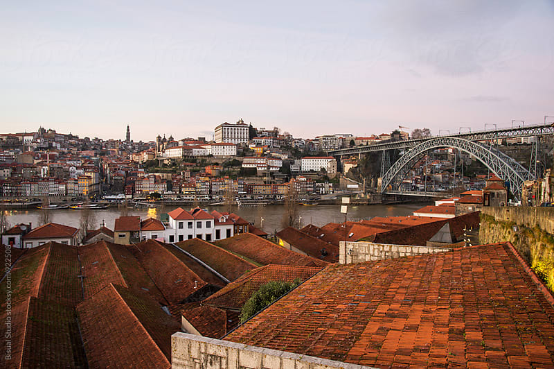 Roofs of wine cellars in Oporto by Bisual Studio for Stocksy United