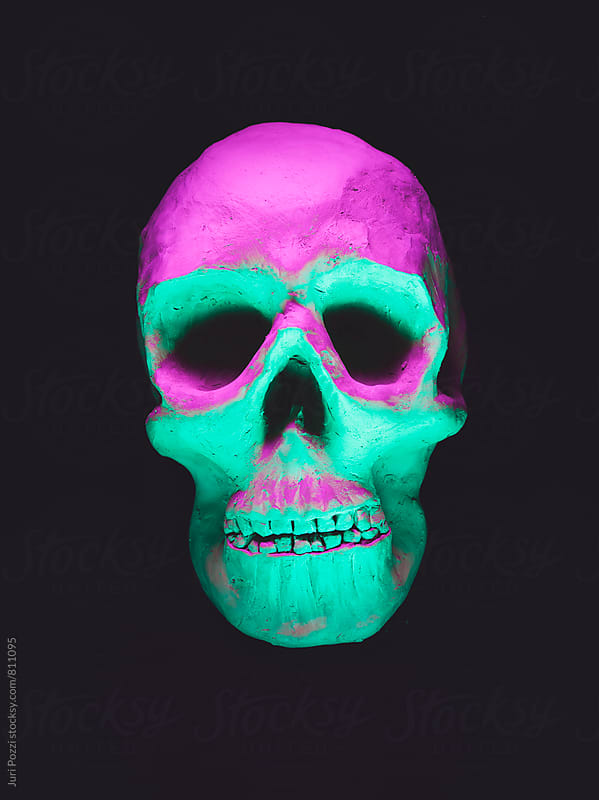 human skull made of clay by Juri Pozzi for Stocksy United