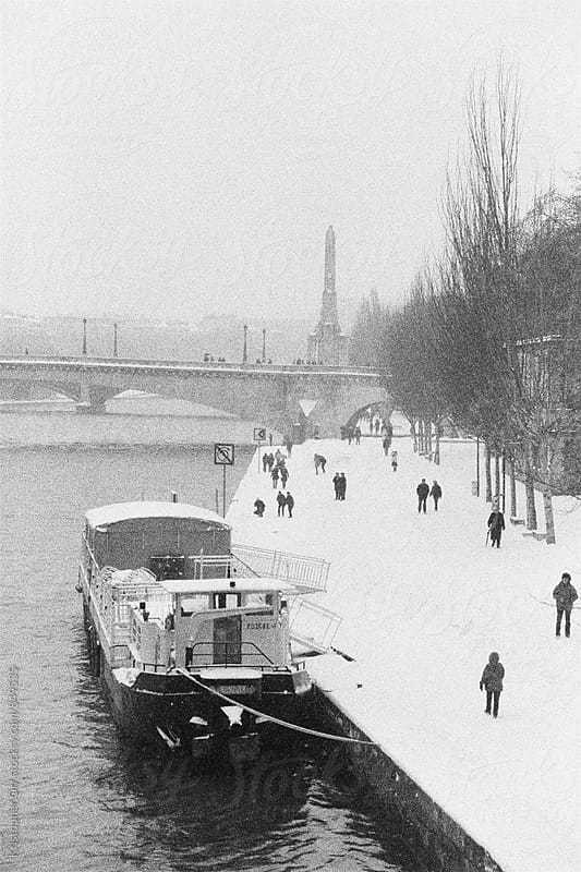 Winter Day Along the Seine by Kristopher Orr for Stocksy United