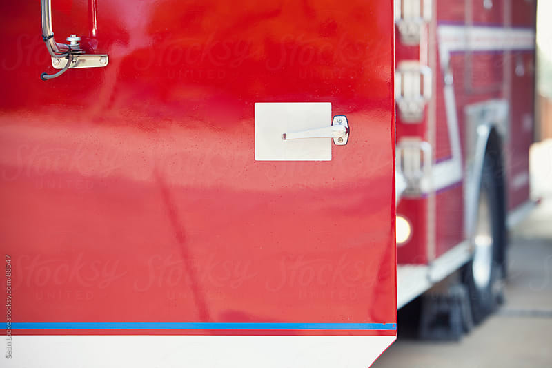 Firehouse: Fire Truck Door by Sean Locke for Stocksy United