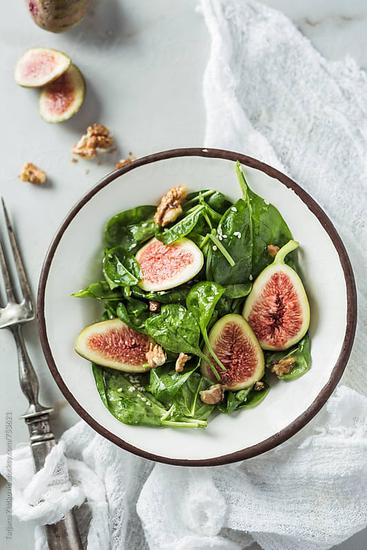 Fig salad by Tatjana Ristanic for Stocksy United
