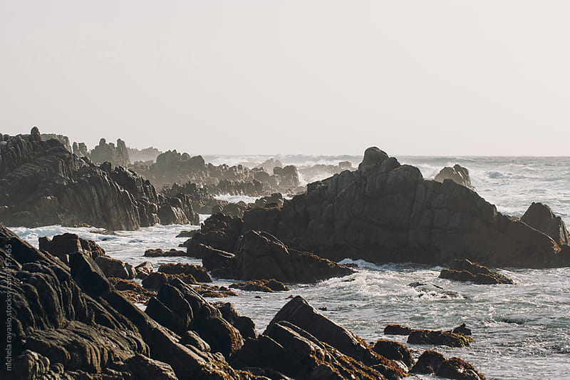 Rocks on the coast of the Pacific Ocean by michela ravasio for Stocksy United