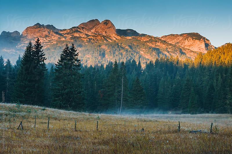 Sunrise in the mountians by Dimitrije Tanaskovic for Stocksy United
