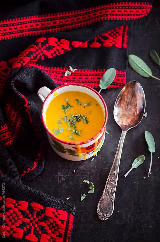 pumpkin soup by Canan Czemmel for Stocksy United