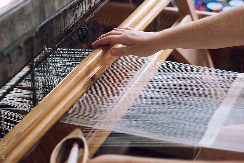Weaver and loom by Pixel Stories for Stocksy United