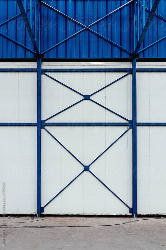 Steel construction background by Dimitrije Tanaskovic for Stocksy United