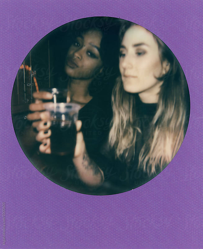 Polaroid print of best friends by kkgas for Stocksy United