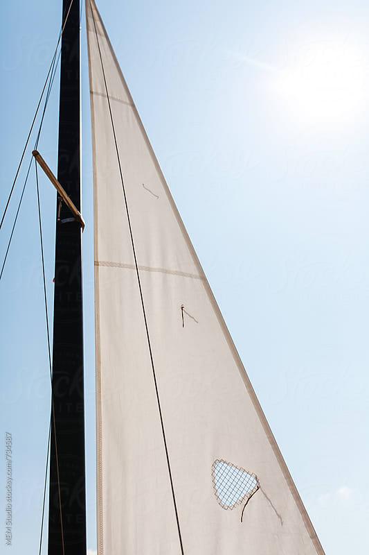 jib on a sports catamaran class F16 by MEM Studio for Stocksy United
