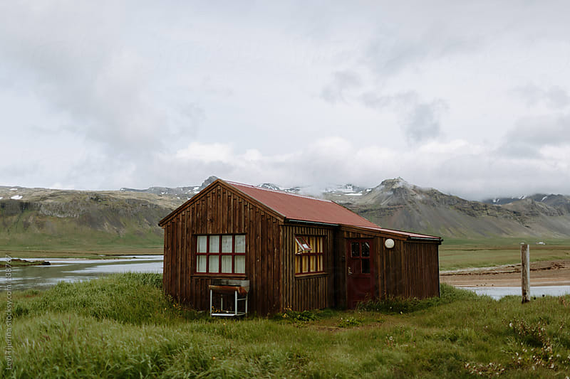 Shed at Hotel Budir in Iceland by Levi Tijerina for Stocksy United
