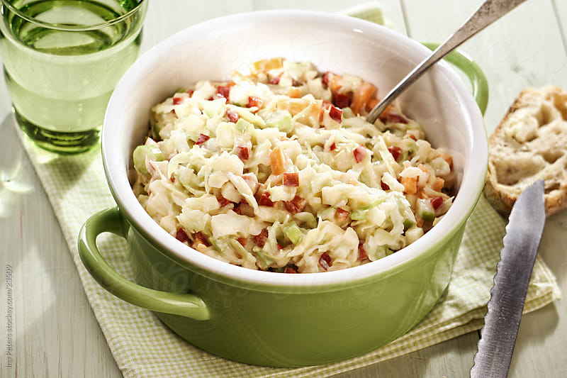 Coleslaw Apple Salad by Ina Peters for Stocksy United