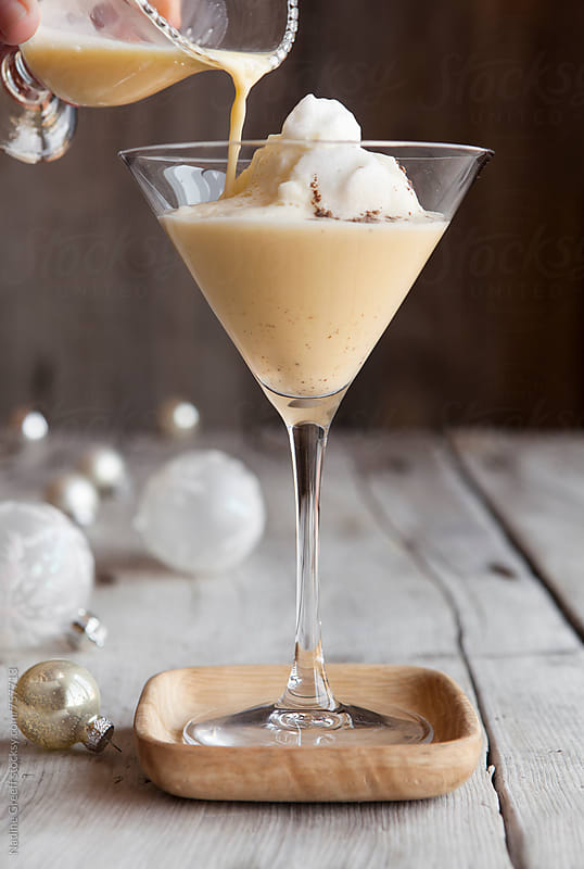 Eggnog martini cocktail by Nadine Greeff for Stocksy United