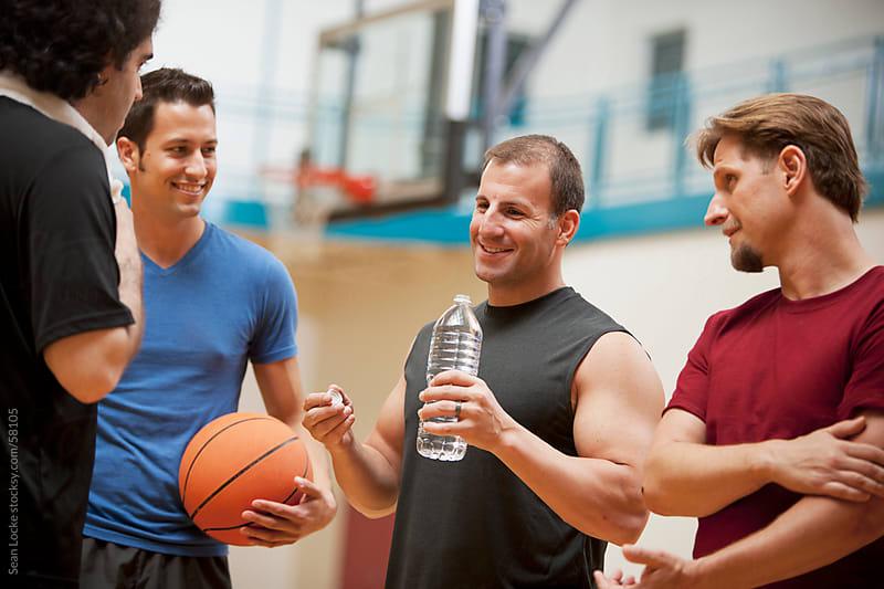 Gym: Friends Ready to Play Basketball by Sean Locke for Stocksy United