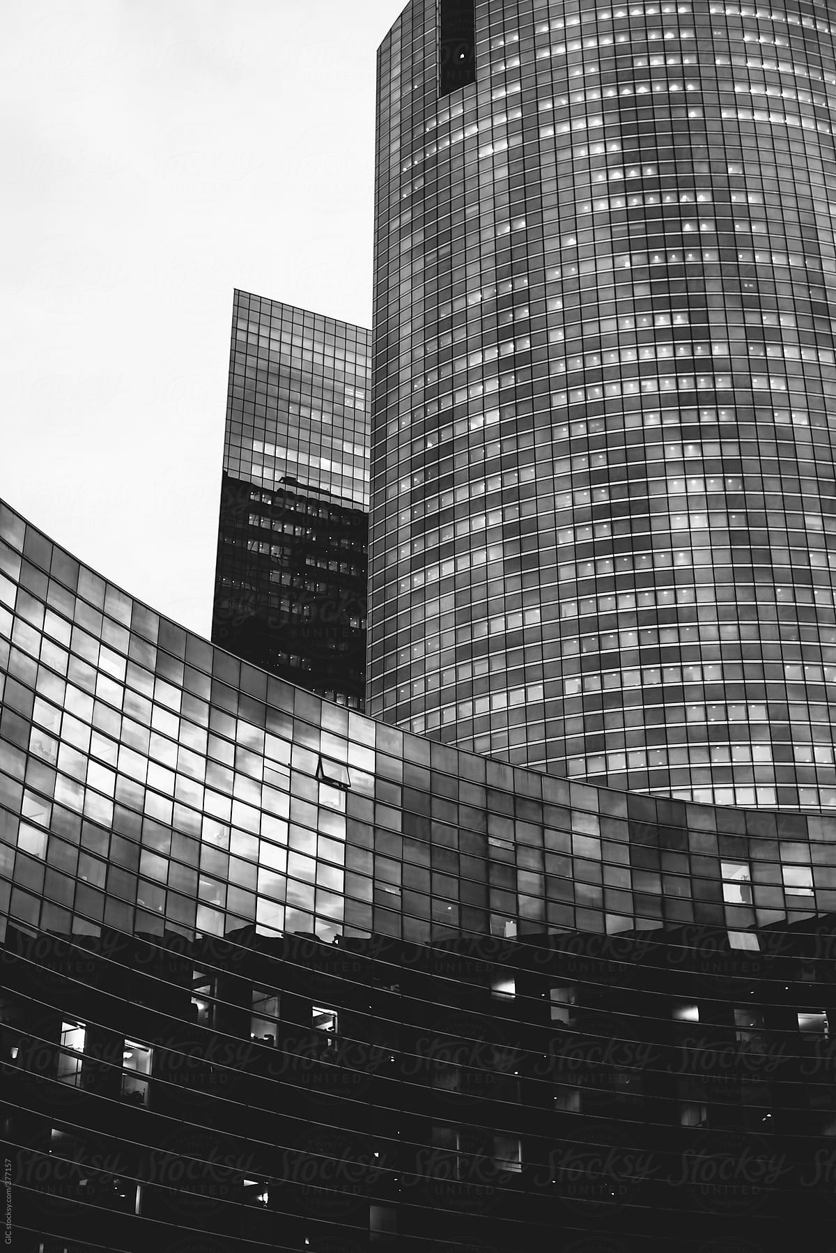Modern building in Black and White by Simone Wave - Skyscraper, Architecture  - Stocksy United