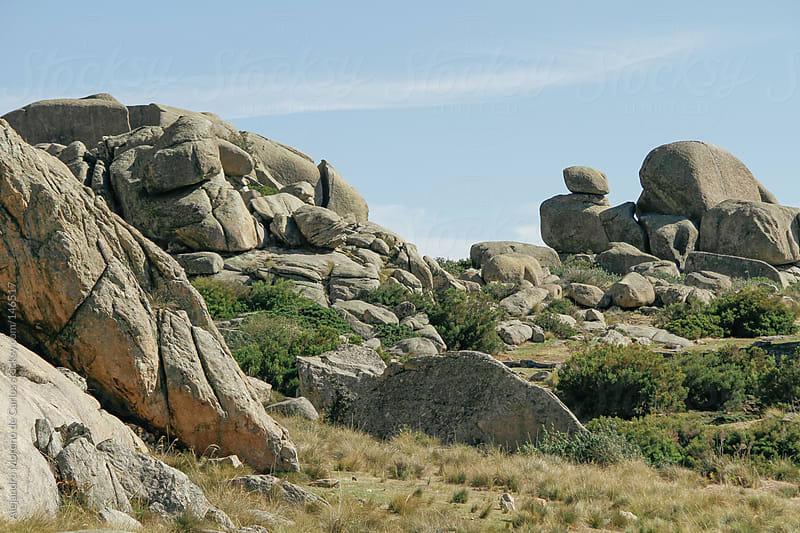 Granite rock landscape in Pedriza, Madrid, Spain by Alejandro Moreno de Carlos for Stocksy United