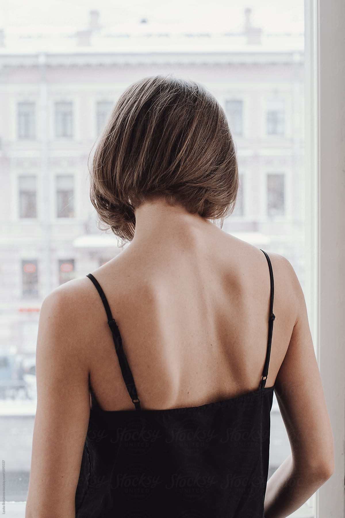 Back View Of A Woman With Short Haircut Stocksy United