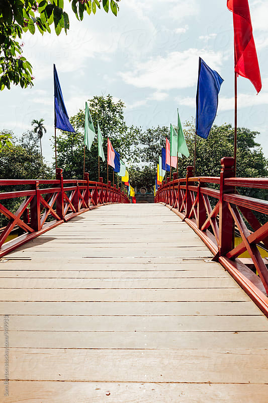 Foot bridge in Hanoi by Sam Burton for Stocksy United