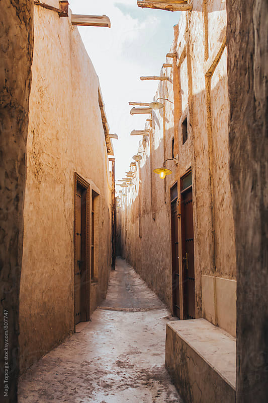Little old passage in Doha by Maja Topcagic for Stocksy United