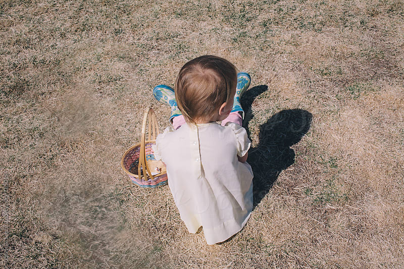 Little Girl Ready for an Easter Egg Hunt by Gabrielle Lutze for Stocksy United