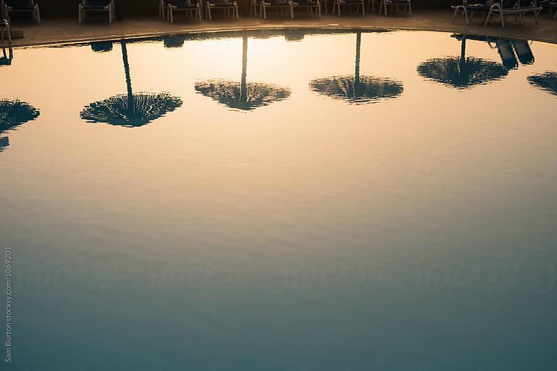 Umbrella reflections by Sam Burton for Stocksy United