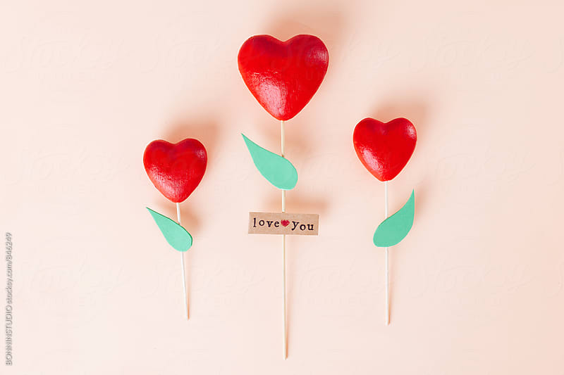 Handmade heart-shaped roses. by BONNINSTUDIO for Stocksy United