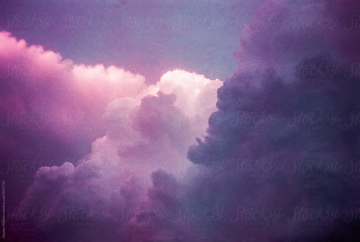 Surreal purple sunset sky filled with clouds by Hayden Williams - Cloud, Sky - Stocksy United