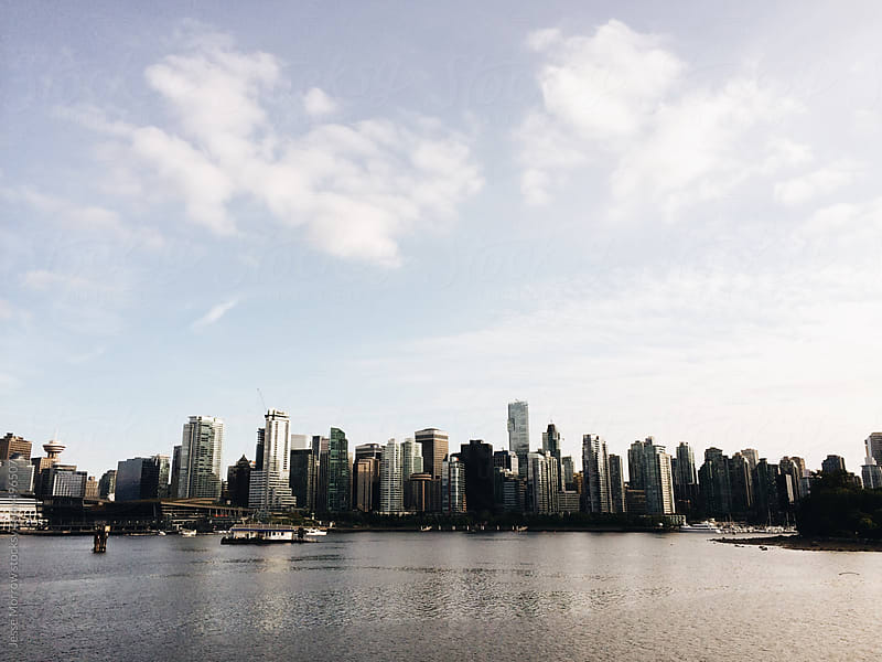 Vancouver BC skyline by Jesse Morrow for Stocksy United
