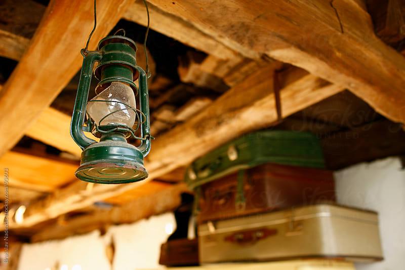 Lantern hinged on ceiling by Bratislav Nadezdic for Stocksy United
