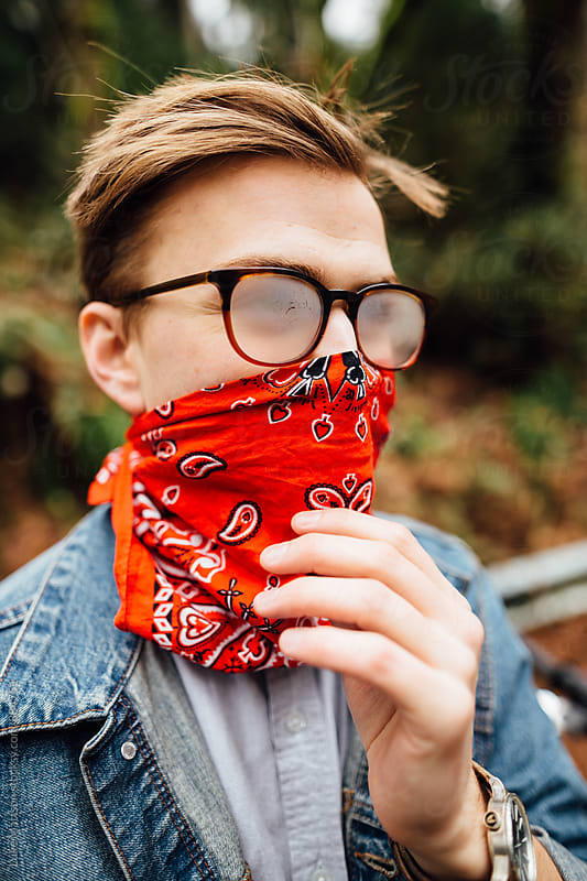 Café Racer Bandana by Luke Mattson for Stocksy United