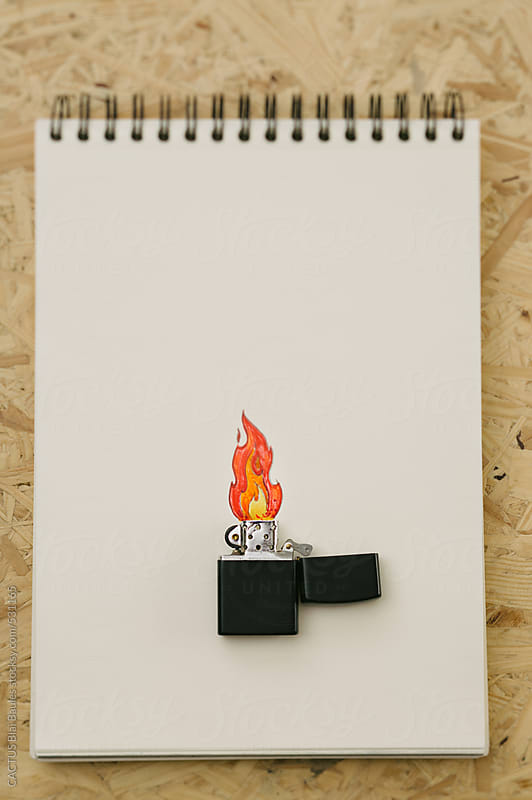 Fire on paper by CACTUS Blai Baules for Stocksy United