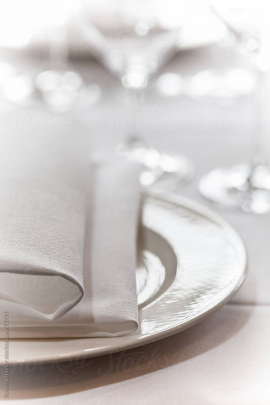 Restaurant Table Setting by Rowena Naylor for Stocksy United