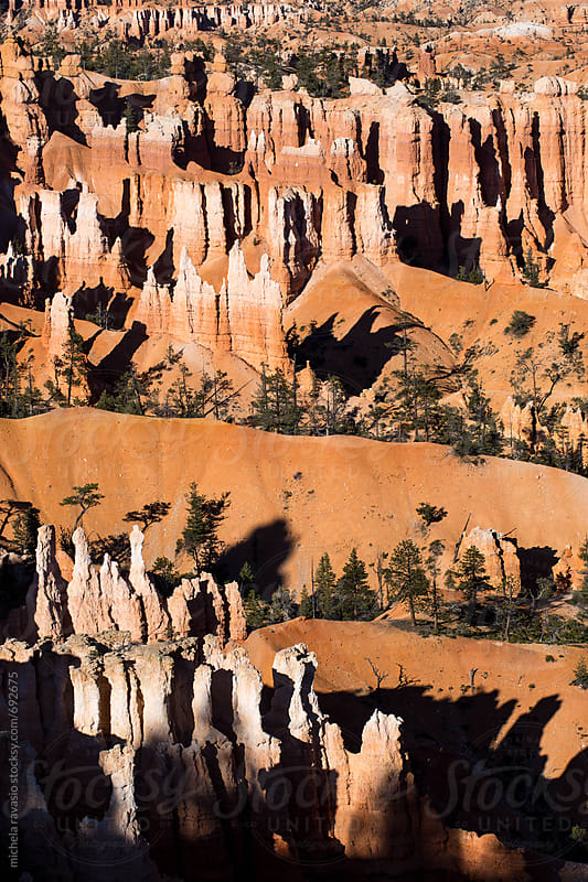Colored pattern of sandstones pinnacles in Bryce Canyon National Park by michela ravasio for Stocksy United