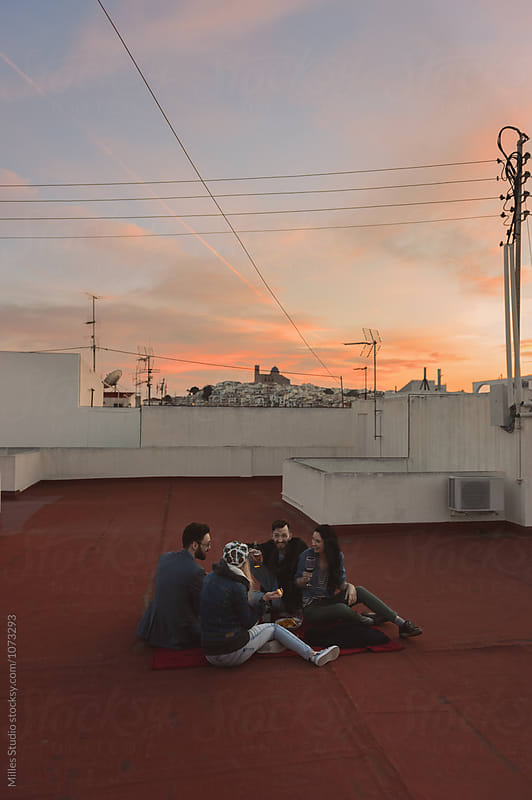 Rooftop Hangout by Milles Studio for Stocksy United