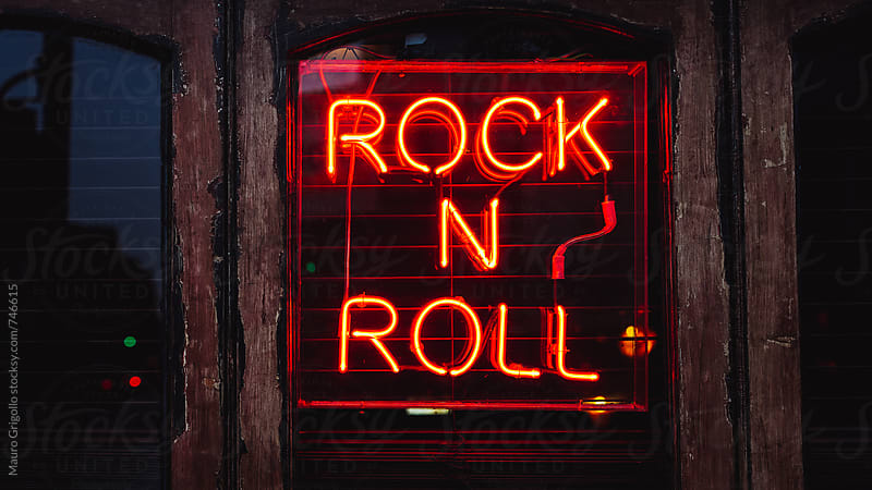 Rock'n'Roll music sign by Mauro Grigollo for Stocksy United