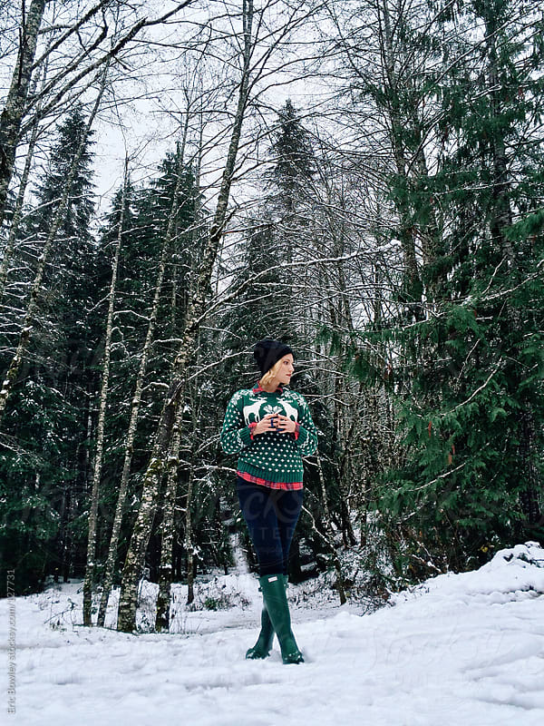 Snowy Forest by Eric Bowley for Stocksy United