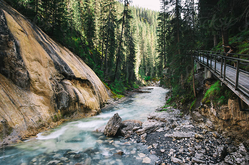 River in Johnston Canyon, Banff National Park, Alberta, Canada by Peter Wey for Stocksy United