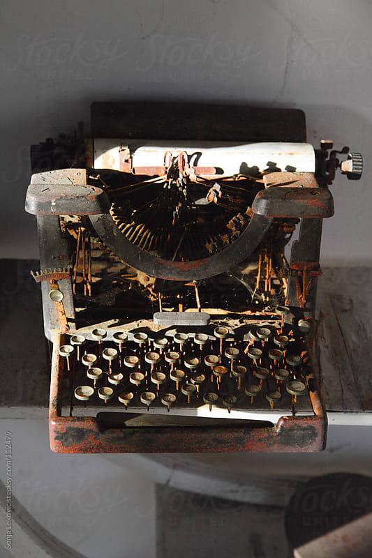 old typewriter by Sonja Lekovic for Stocksy United