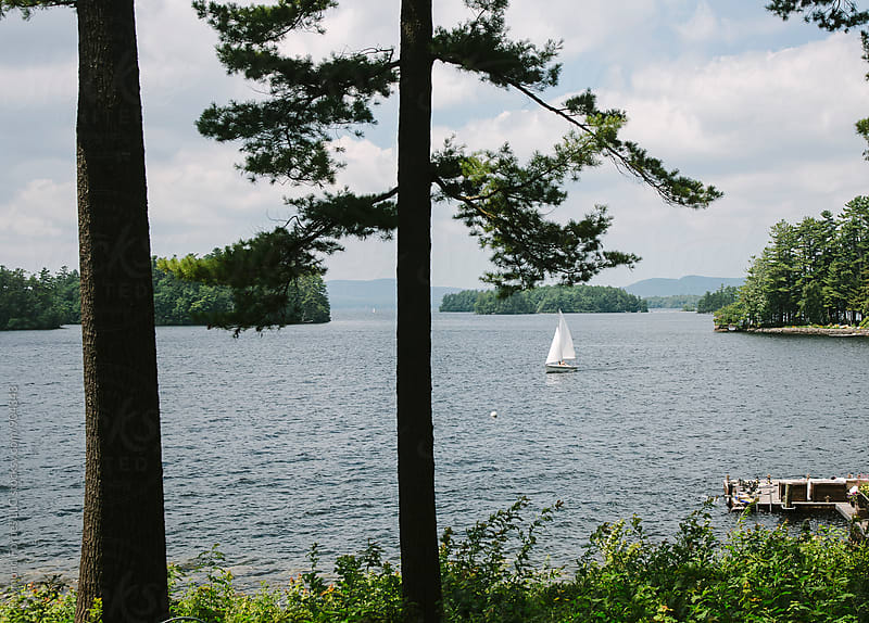 Maine Lakes Region Summer by Raymond Forbes LLC for Stocksy United