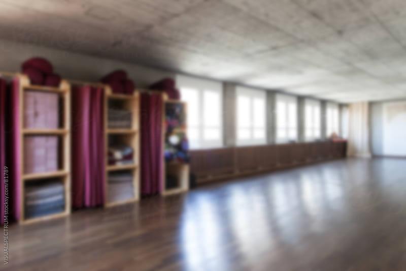 Empty Yoga Studio Defocused by VISUALSPECTRUM for Stocksy United