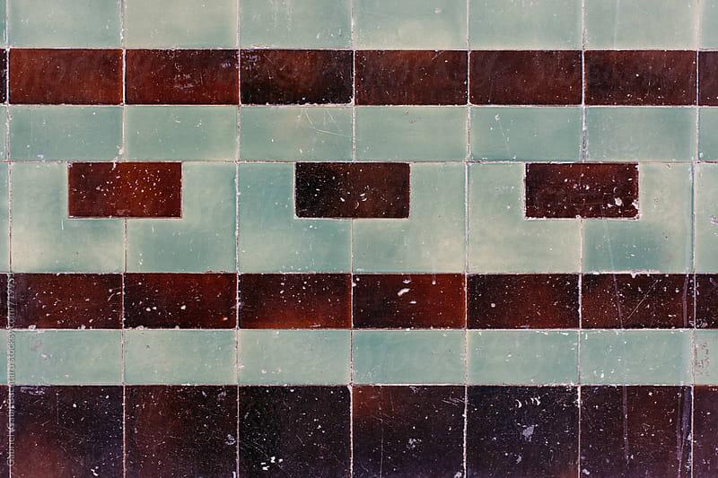 Ceramic tile pattern on an old wall by Gabriel (Gabi) Bucataru for Stocksy United