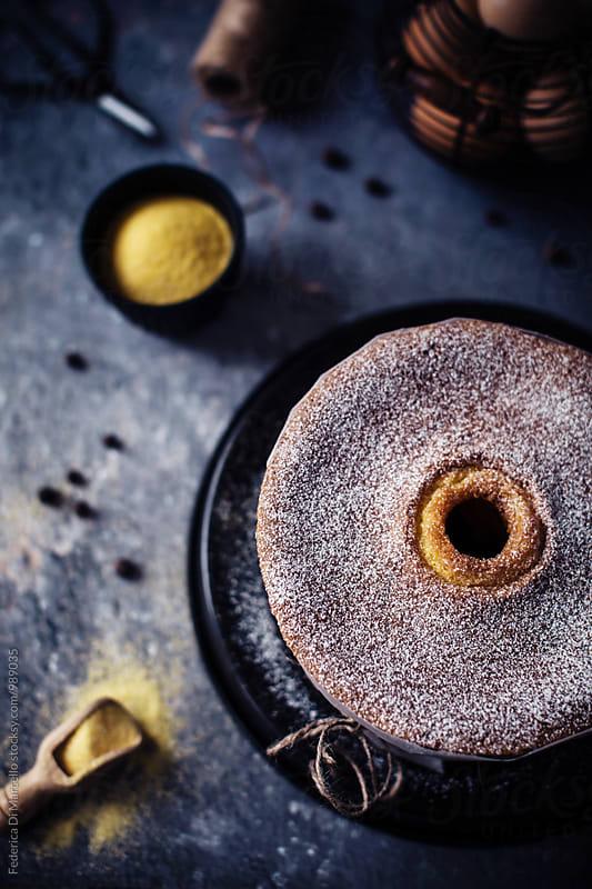 Golden corn cake by Federica Di Marcello for Stocksy United