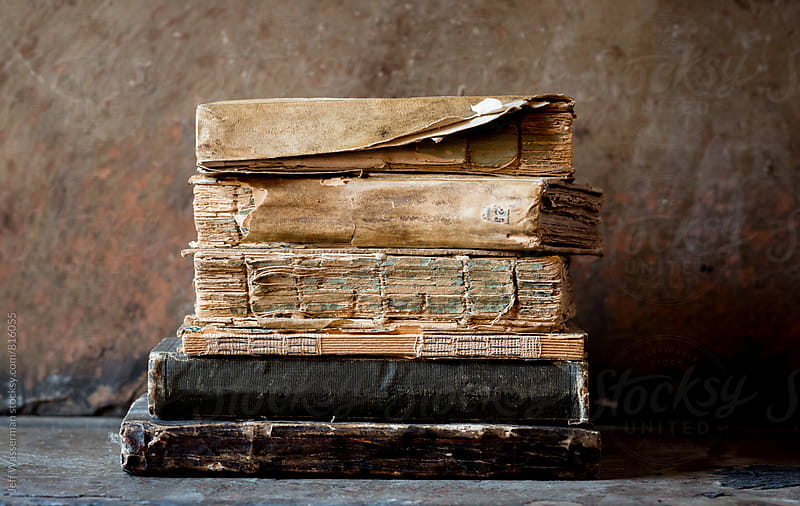 Stack of Antique Books by Jeff Wasserman for Stocksy United